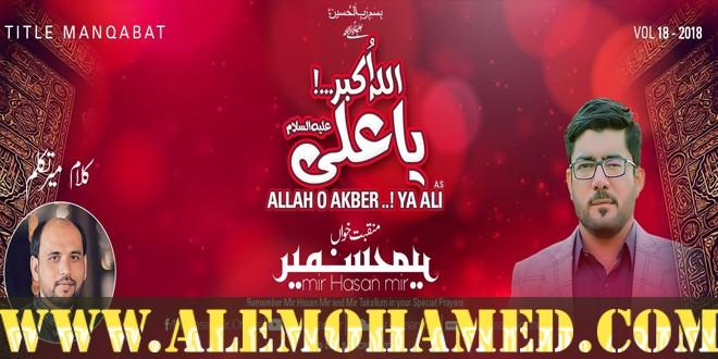 AleMohamed com Mir Hasan Mir Manqabat 2018-19 | Manqabat